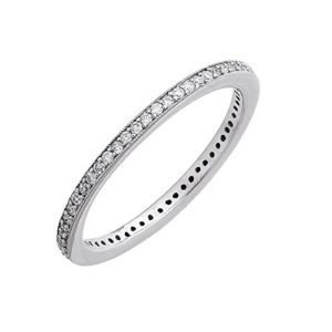 10k Gold Diamond Pave Set Eternity Band Ring (0.21 ct to 0.24 ct)